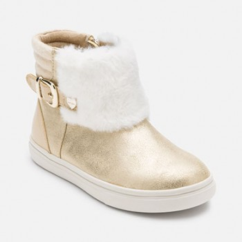MAYORAL Girl faux fur ankle boots, gold 46751-38